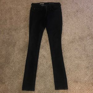 AG The Jegging Super Skinny Fit Black Jeans 25R